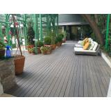 deck ecológico PVC preço Parque São Domingos