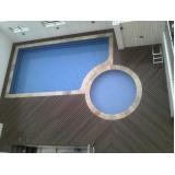 deck em PVC para piscina Condomínio Veigas