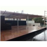 deck modular de madeiras em Perdizes