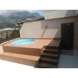 deck para piscina de plástico preço Itaim Bibi