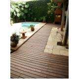 deck para piscinas de madeiras plásticas na Bela Vista