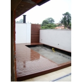 deck piscina WPC em Interlagos