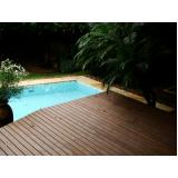 Deck em PVC para Piscina