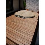 deck PVC imitando madeiras Raposo Tavares