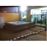 deck de madeira plástica para spa