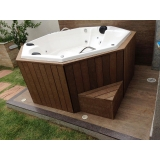piso deck de madeira plástica para spa