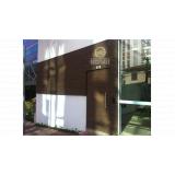 fachada de madeira plástica ecológica preço Santo Amaro