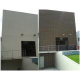 fachada de madeira plástica ecológica na Vila Clementino