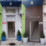 fachada em madeira plástica ecológica Jardim Iguatemi