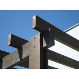 kit pergolado de madeira plástica preço Parque Continental