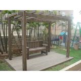 kit pergolado de madeira plástica Jardim Bonfiglioli
