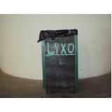 lixeira de madeira plástica para jardim preço na Carapicuíba