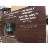 madeira ecológica para fachada na Penha
