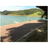 madeira plástica para deck de piscina preço na Água Chata