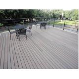 mesa de madeira ecológica para jardim preço em Itatiba