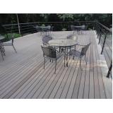mesa de madeira ecológica para jardim