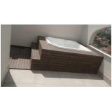 onde encontrar deck de madeira para piscina de plástico Butantã