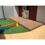 onde encontrar deck de PVC para jardim em Belém