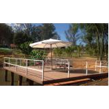 onde encontrar madeira plástica para deck de piscina na Vila Ré