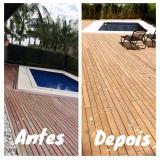 onde encontrar piso de madeira para deck de piscina em Mendonça