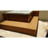 onde encontrar piso deck de madeira plástica para spa Embu Guaçú