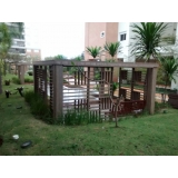 pergolado ecológico quadrado na Vila Romana