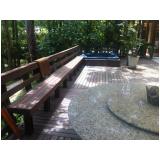 piso deck de madeira para spa Parque Continental