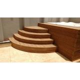 piso deck de madeira plástica para spa Jardim Europa