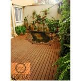 piso deck de madeira plástica Glicério