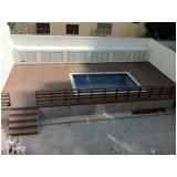 piso deck de piscina PVC preço na Luz