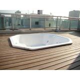 piso deck ecológico para spa preço Pacaembu