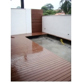 piso deck para piscina preço Tanque Grande