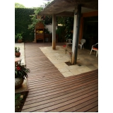 piso deck de madeira em SP