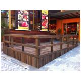 piso deck de madeira plástica
