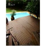 pisos deck de madeiras plásticas na Água Azul