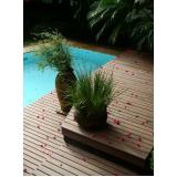 piso deck de piscina PVC