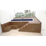 pisos deck que imita madeiras para piscinas Francisco Morato