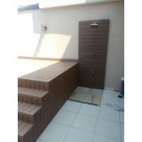 pisos deck que imita madeiras em Aeroporto