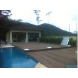 quanto custa deck de madeira área externa na Vila Barros
