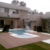 quanto custa deck de madeira ecológica para piscina Jardim Europa