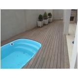 quanto custa deck de madeira para piscina móvel Limão