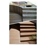 quanto custa deck de madeira plástica para sauna Parque São Lucas