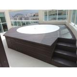 quanto custa deck de madeira redondo Morro Grande