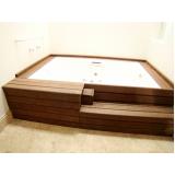 quanto custa deck para piscina de madeira plástica na Guararema