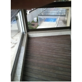 quanto custa deck para varanda de apartamento pequeno Condomínio Veigas