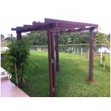quanto custa kit pergolado de madeira plástica na Vila Barros