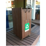 quanto custa lixeira em madeira plástica na Fortaleza