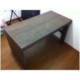 quanto custa mesa de madeira ecológica para jardim Taboão
