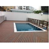 quanto custa piso deck que imita madeira para piscina Embu Guaçú