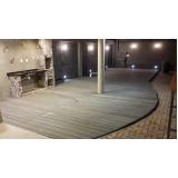 quanto custa piso em deck de madeira Brooklin
